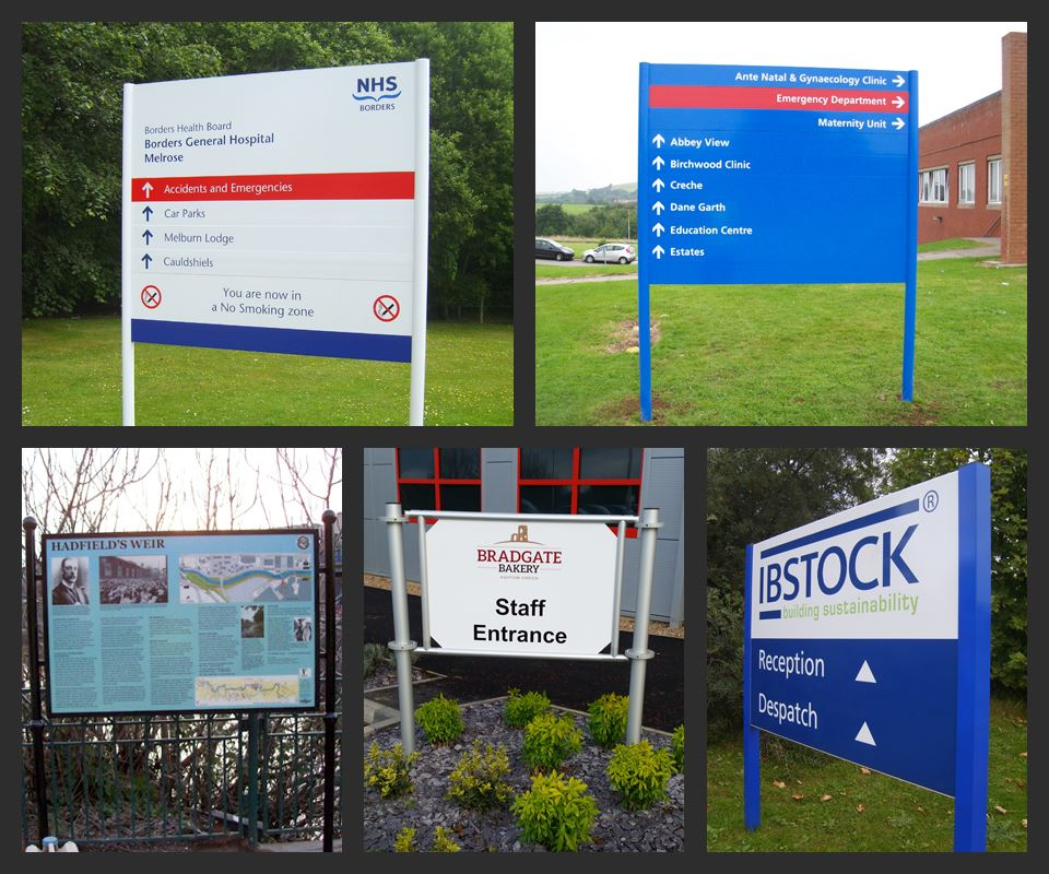Post And Panel Sign Systems Custom Shaped Panels Led