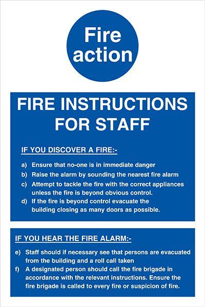 Fire Action Notices Allsigns International Ltd