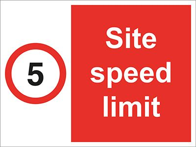 Allsigns International Ltd 5 Mph Site Speed Limit
