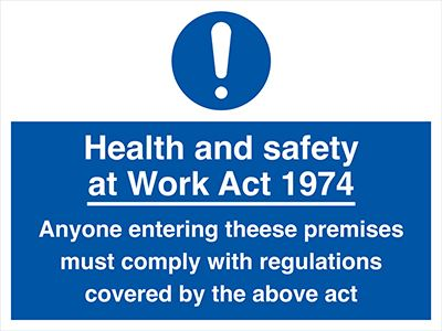 Allsigns International Ltd Health And Safety At Work Act