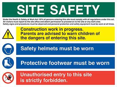 Site Safety Banners Allsigns International Ltd