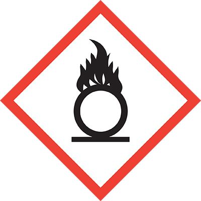 Allsigns International Ltd Oxidising Agent Symbol Label
