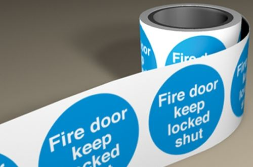 Fire Labels On A Roll